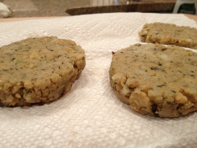 chickpea fritter patties