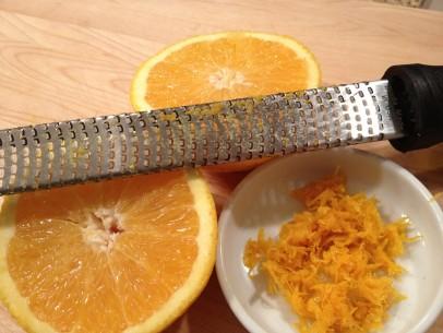 fresh orange zest