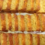 party platter of apricot almond cake!