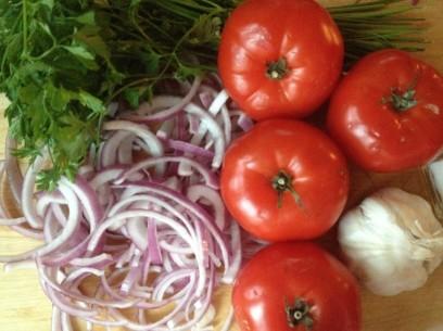 Greek potato stew ingredients